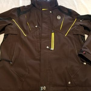 Spyder Ski Jacket Men's size L brown